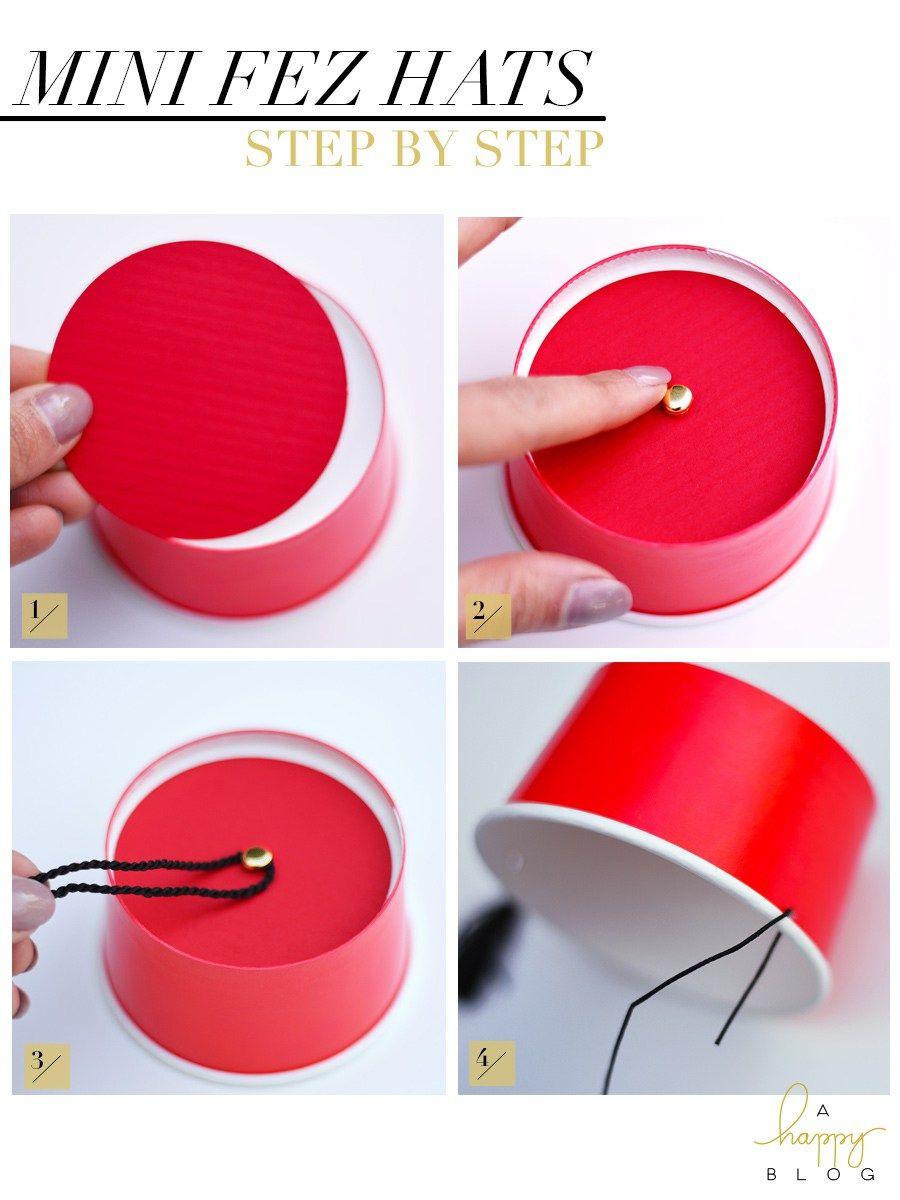 An easy DIY craft for making mini fez hats f7c74977ec0
