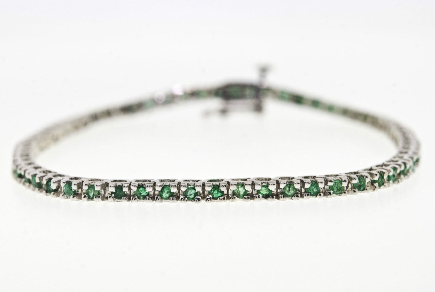 cttw emerald bracelet in k gold plated sterling silver on