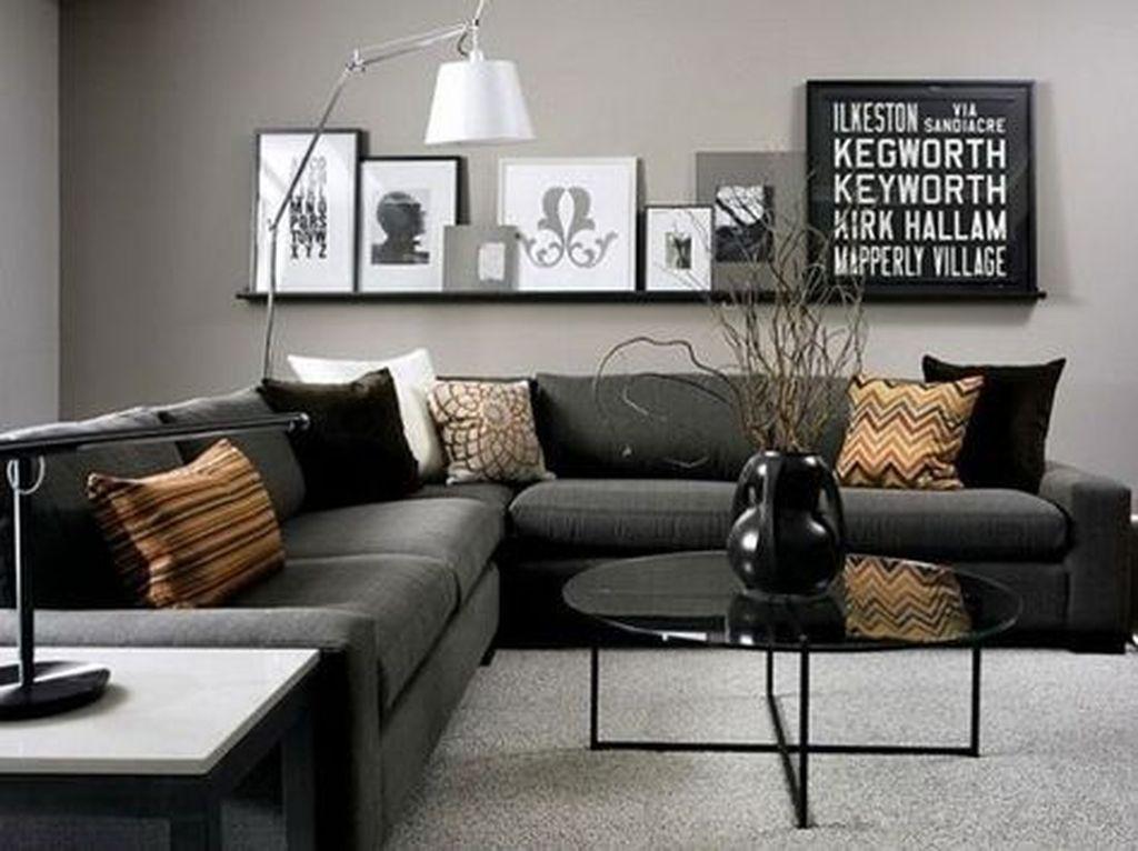 Masculine Apartment Decorating Ideas For Men 04 Small Living Room Design Gray Living Room Design Living Room Grey