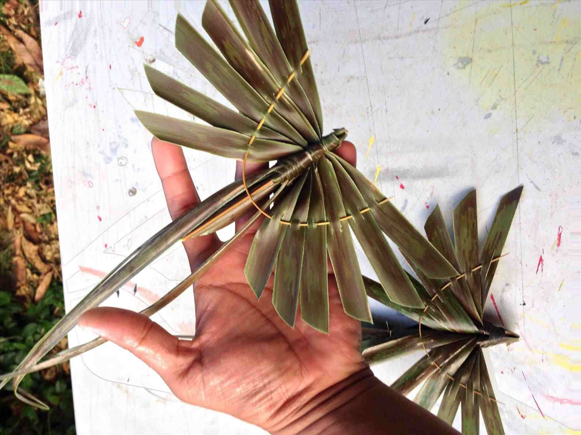 Coconut leaf crafts paper palm tree leaves autumn leaves and gems