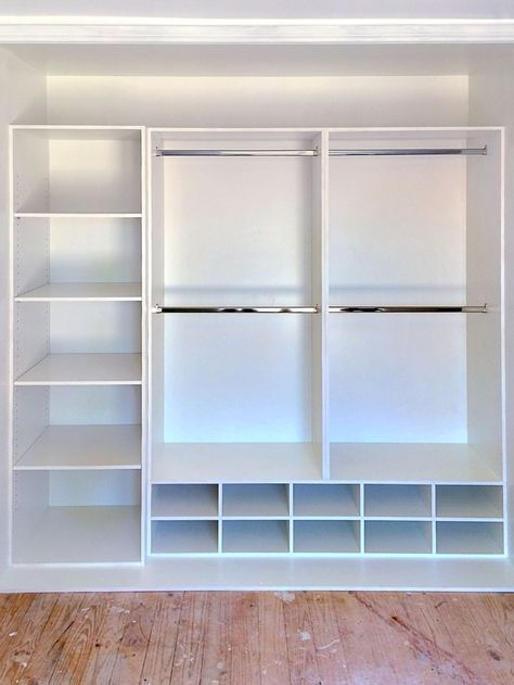 Idea de dise o de closet peque o built in cupboards for Zapatero para habitacion