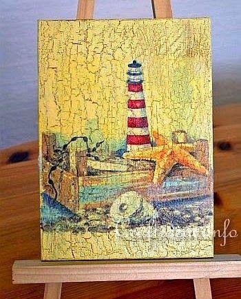 Coastal Napkin Decoupage Projects | Coastal Art Decor ...