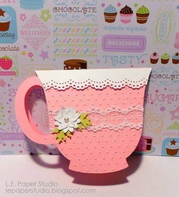 Birthday Teacup Invitation And Free Cricut Files Handmade