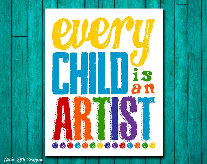 every child is an artist  kids decor  art gallery wall  playroom decor  children u0026 39 s wall art