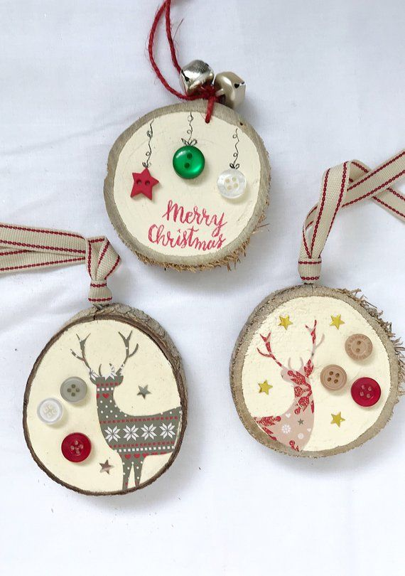Christmas Wood Slice Ornament Wood Slice Ornament Nordic Etsy Wood Christmas Ornaments Christmas Crafts Christmas Ornaments To Make