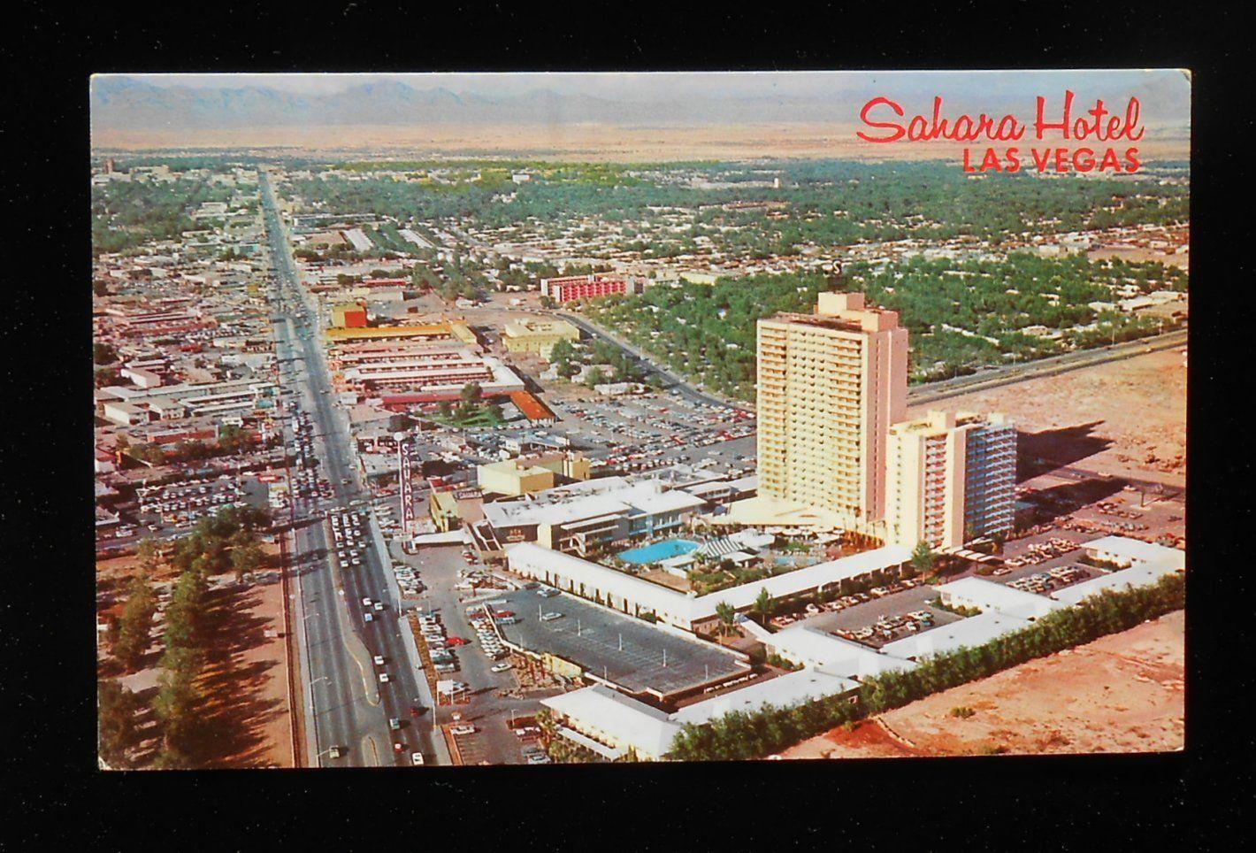 1950 S Aerial View Sahara Hotel Las Vegas Nv When The Sahara Was