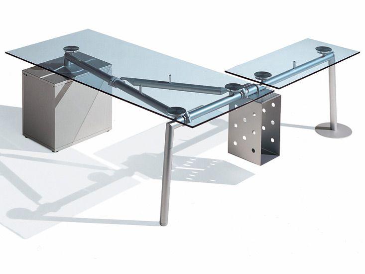 Glas Schreibtisch Eck Printerexpertsclub