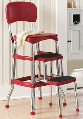 Counter Height Retro Step Stool Kitchen Step Stool Furniture Dining Furniture