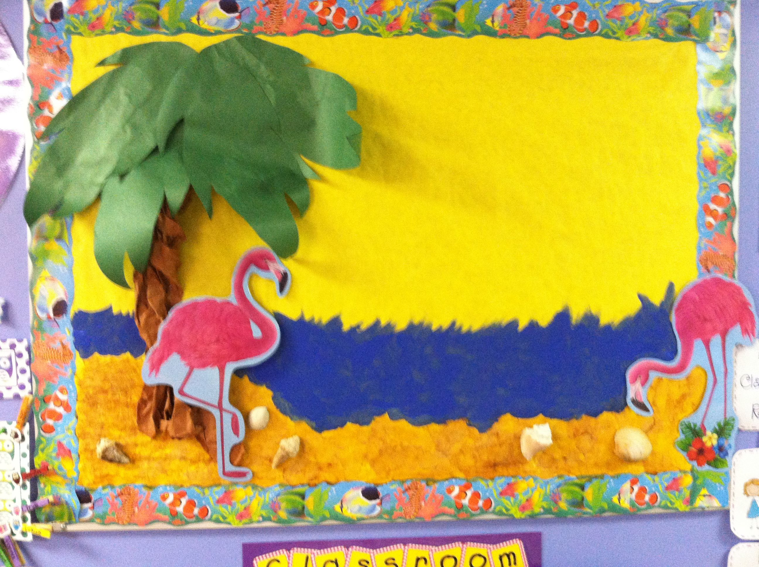 Classroom Luau Ideas : Bulletin board for the end of year luau pre k