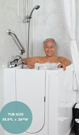 Cove Tub Small Deep Soaking Tub Premier Care In Bathing With