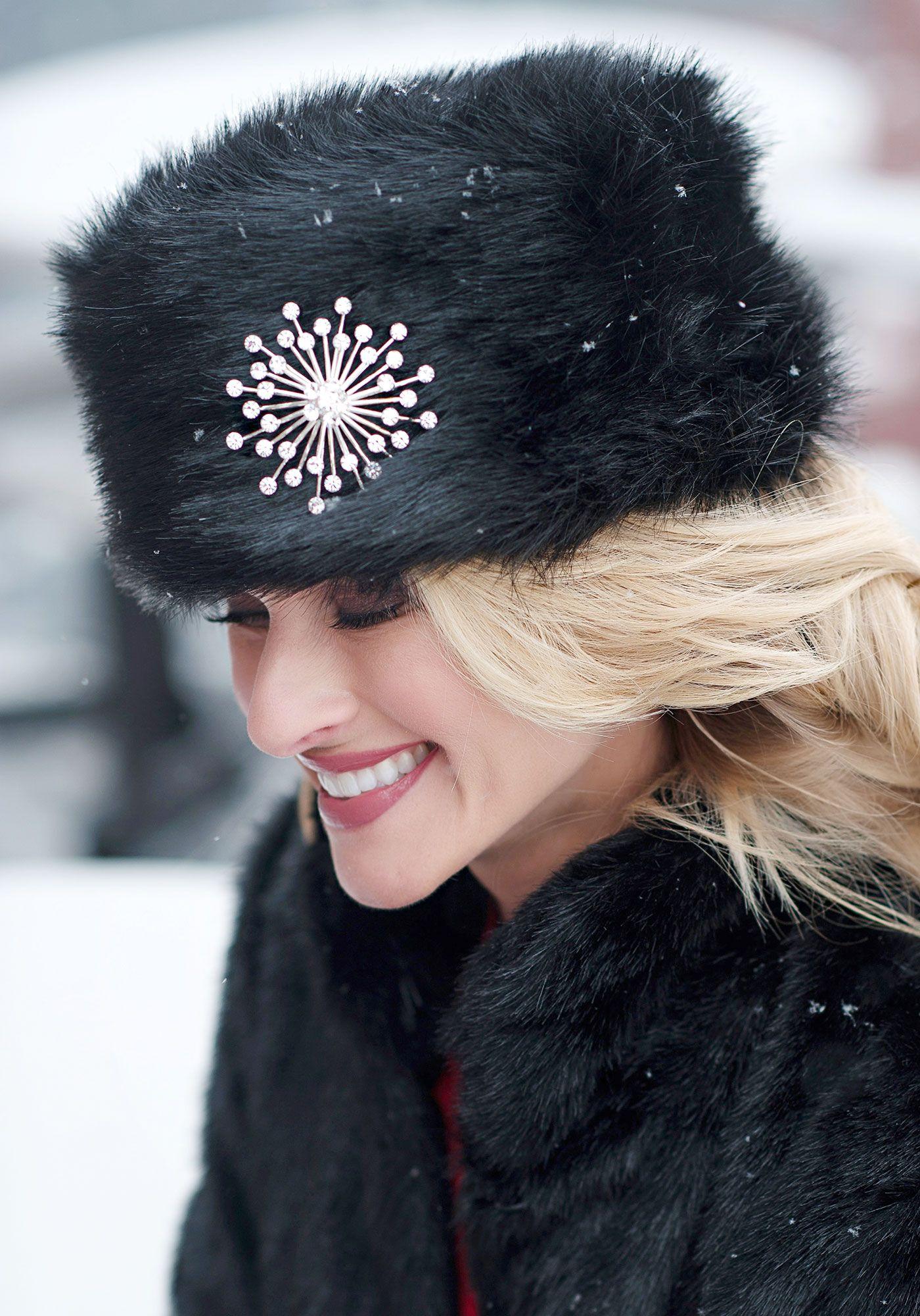 226866b56 Black Fox Faux Fur Russian Hat | Fabulous-Furs | Fur | Hats, Russian ...
