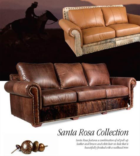 southwestern leather furniture sofa chair ottoman ...
