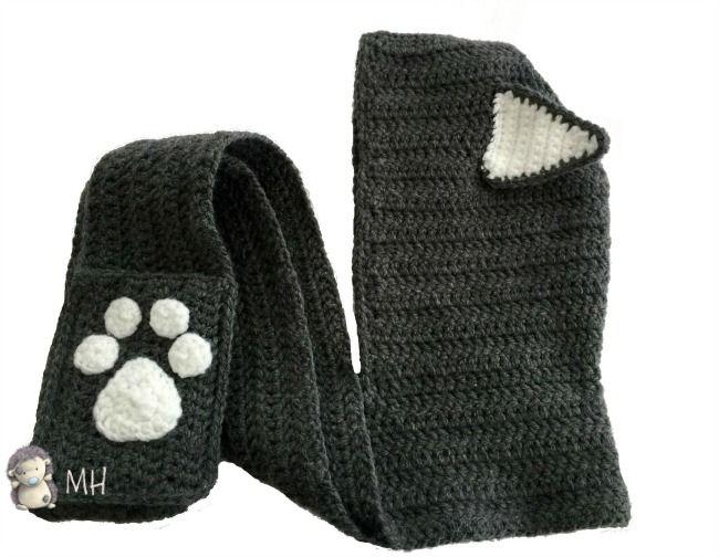 Gorro gato a crochet | Bufandas | Pinterest | Gato, Tejido y Gorros