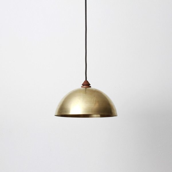 dome lighting fixtures. Half Dome Pendant By Allied Maker, Brass Metal Shade W/ Walnut Handle And Fabric Lighting Fixtures C