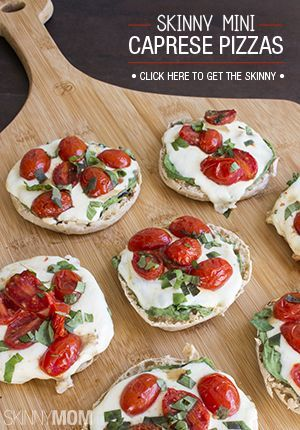 Skinny mini caprese pizzas recipe tasty easy and oven recipes forumfinder Image collections