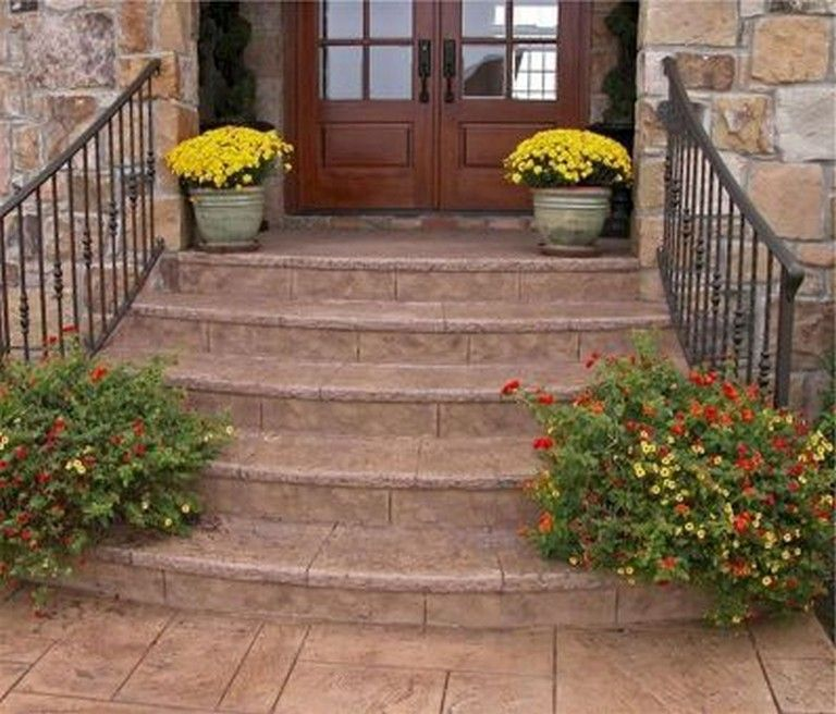 35 Beautiful Farmhouse Front Porch Steps Ideas Architecture