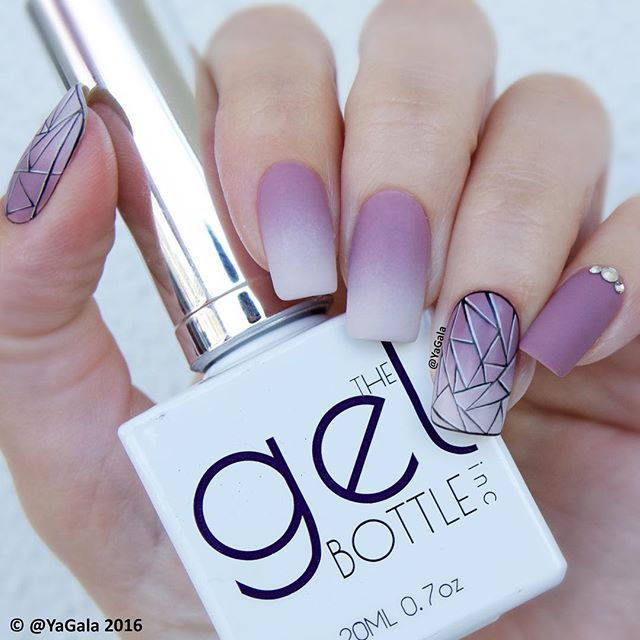 Soft Matte Gradient With Gel Polishes The Gel Bottle Inc No 123 V88 003 Matte Top Gel The Gelbottle Inc Mato With Images Nail Art Ombre Gradient Nails Ombre Nails
