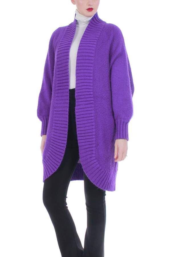 Shop Lucky Brand Deep Purple Womens Size XS Twofer Knitted Sweater - Free Shipping On Orders