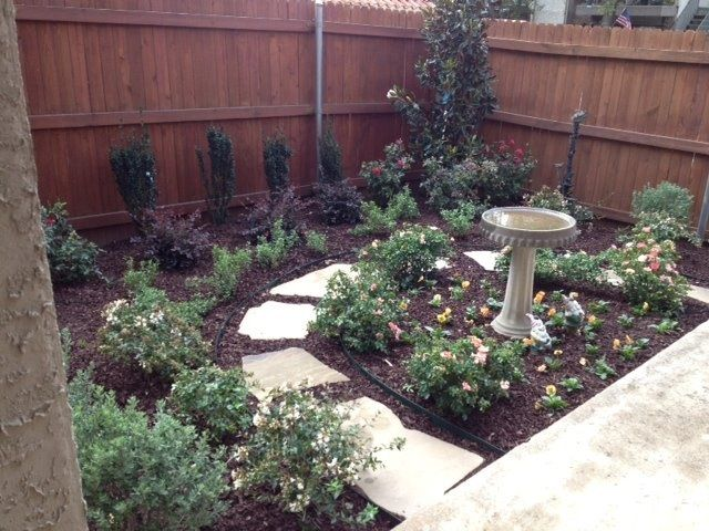 GroundScape, a Fort Worth Landscape Company, landscape design with natural  pathway and brown mulch - GroundScape, A Fort Worth Landscape Company, Landscape Design With