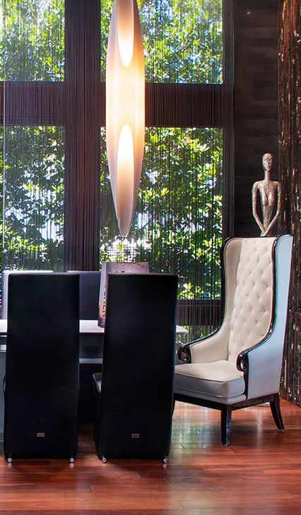 High ceilings creates a dramatic flare at Coconut Lane.