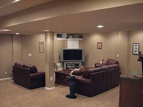 One Idea For Furniture Placement This Basement Is Similar The