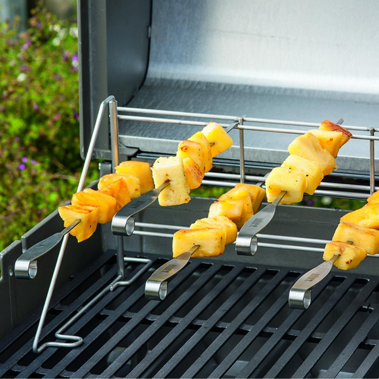 Weber 7618 Stainless Steel Bbq Skewers 4 Pieces Bbqguys Bbq Skewers Stainless Steel Bbq Skewers