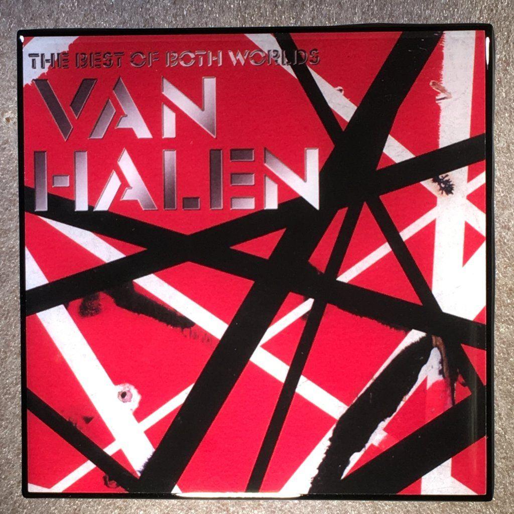 Van Halen Best Of Both Worlds Coaster Custom Ceramic Tile Van Halen Halen When It S Love
