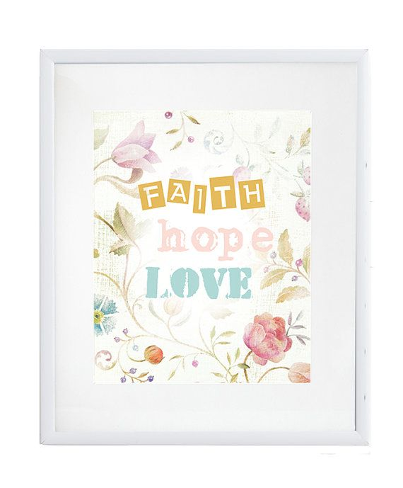 INSTANT DOWNLOAD faith hope love bible by HaniaChmielowska on Etsy