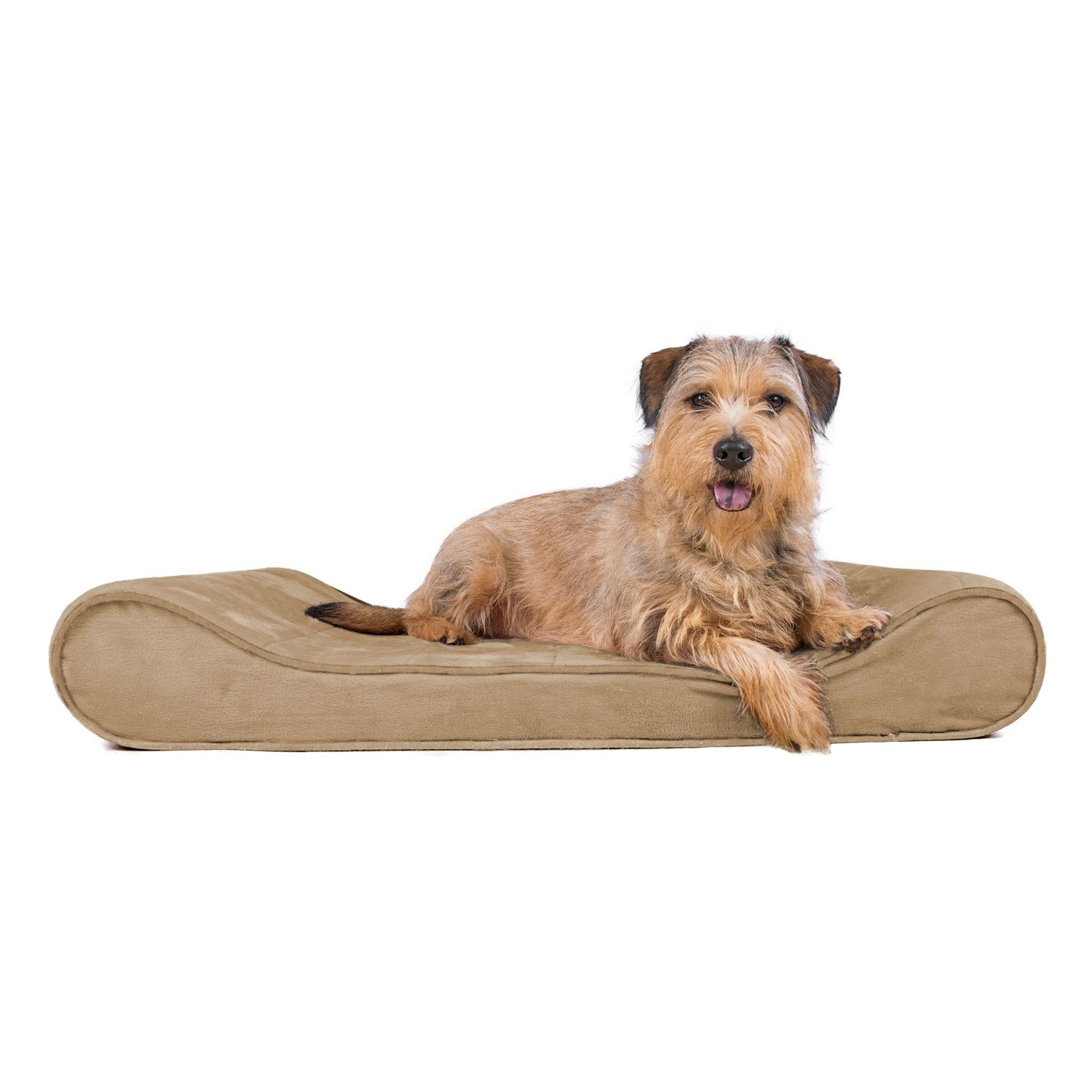 Large Microvelvet Luxe Lounger Orthopedic Pet Bed In Clay