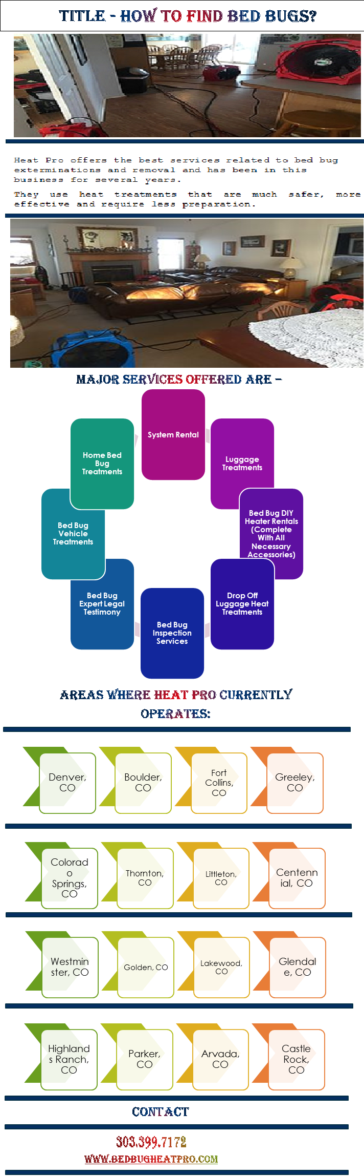 Heat Pro offers the best services related to bed bug