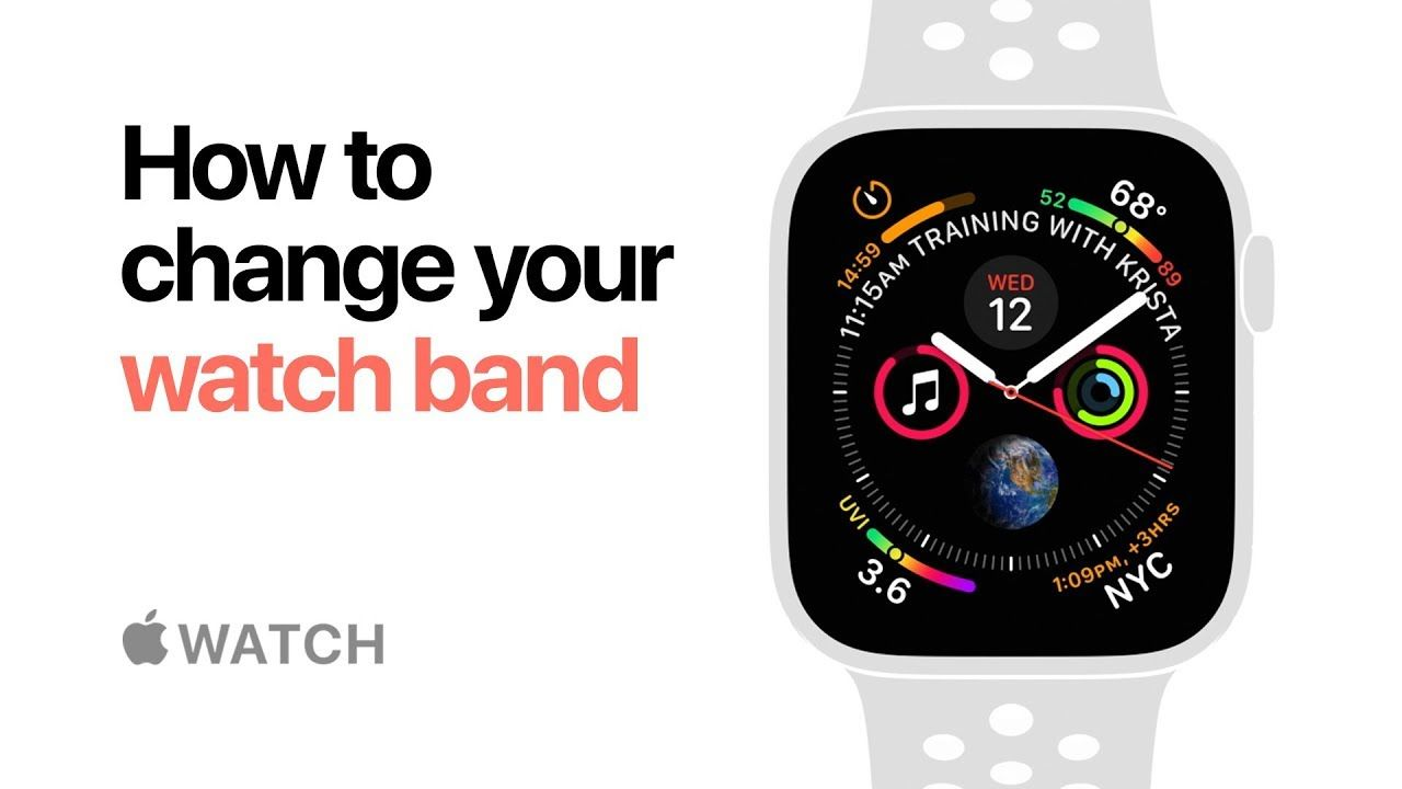 Apple Watch Series 4 How To Change Your Watch Band Apple Youtube Apple Watch Apple Watch Series Watch Bands