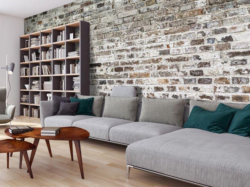 Fototapeta XXL 500x245 cegła mur f-A-0457-a-a Living room - wandbilder für die küche