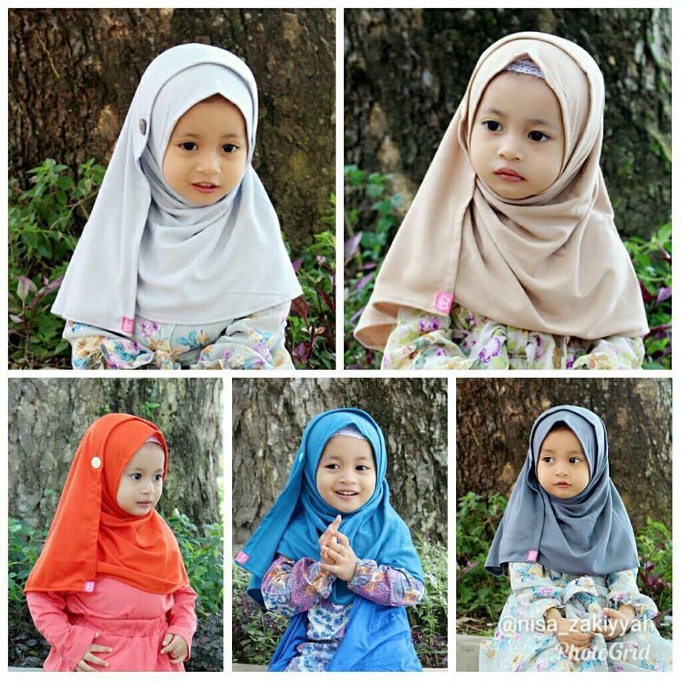 Jilbab Anak Pashmina Instan Bahan Kaos Halus - LuqiHijab  Anak