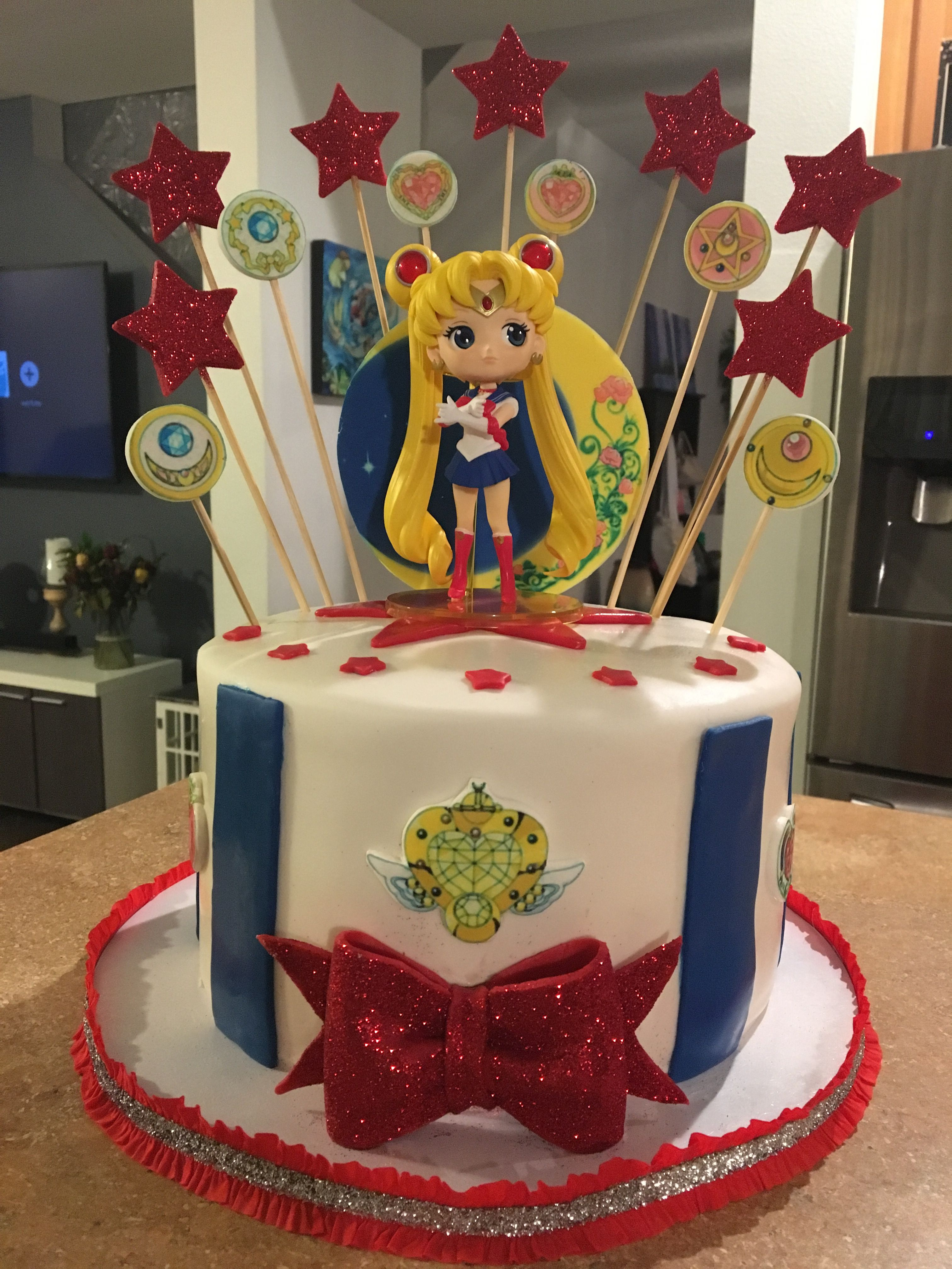 Sailor Moon Cake Tartas Pinterest Sailor Moon Cakes Moon