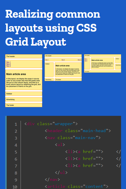 Common Layouts Using Css Grid Layout Css Cssgrid Front End Web