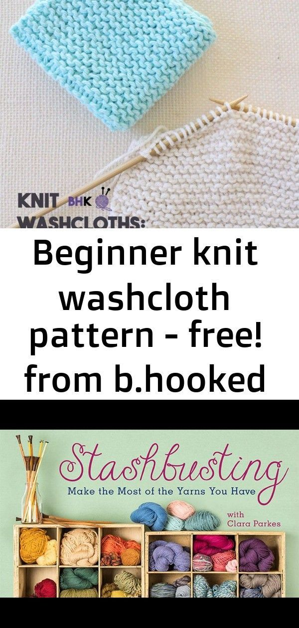 Photo of Beginner knit washcloth pattern – free! from b.hooked knitting 1 :  Beginner Kni…