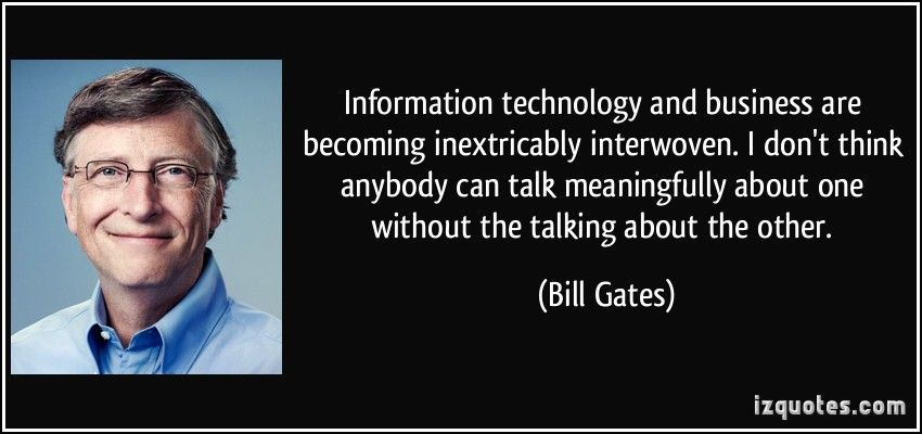 information technology and business related technology quote