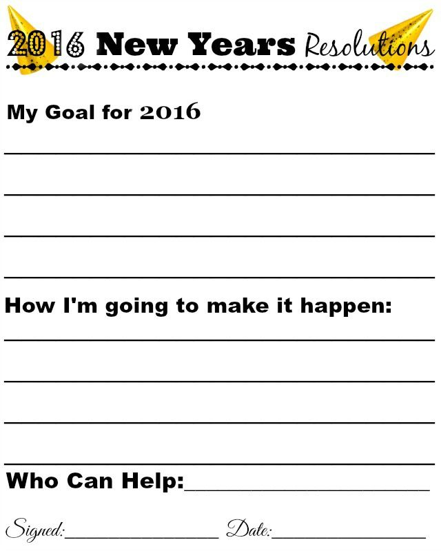 Help you kids achieve their New year\'s goal with this Free Printable ...
