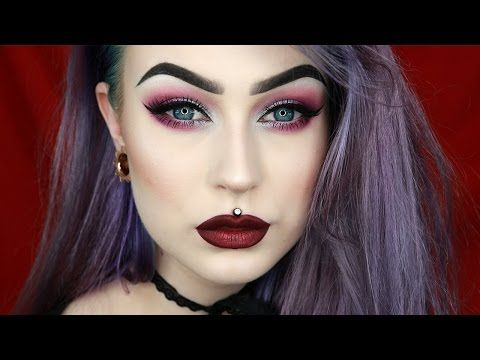 Silver & Purple Holiday Festive Glam Makeup | Evelina Forsell - YouTube
