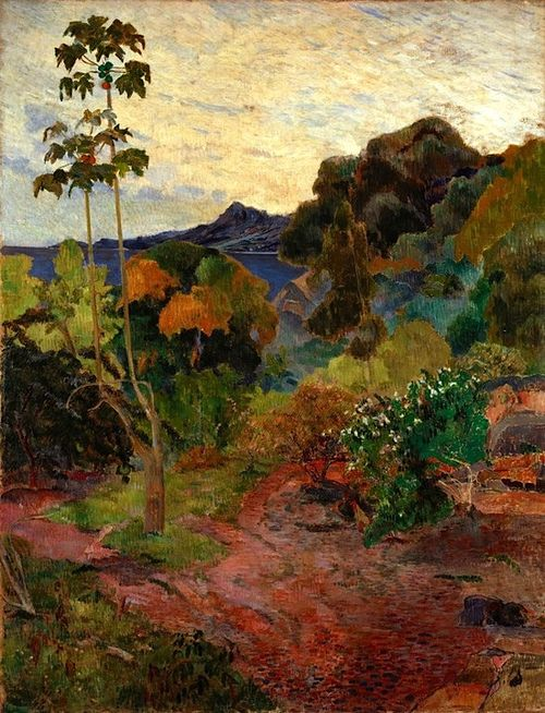 This Is A Painting Of The Outdoors Which Seems To Be A Preferred Subject Of Impressionists By Paul Gauguin Called Arte Paisajes Pinturas Pinturas De Van Gogh