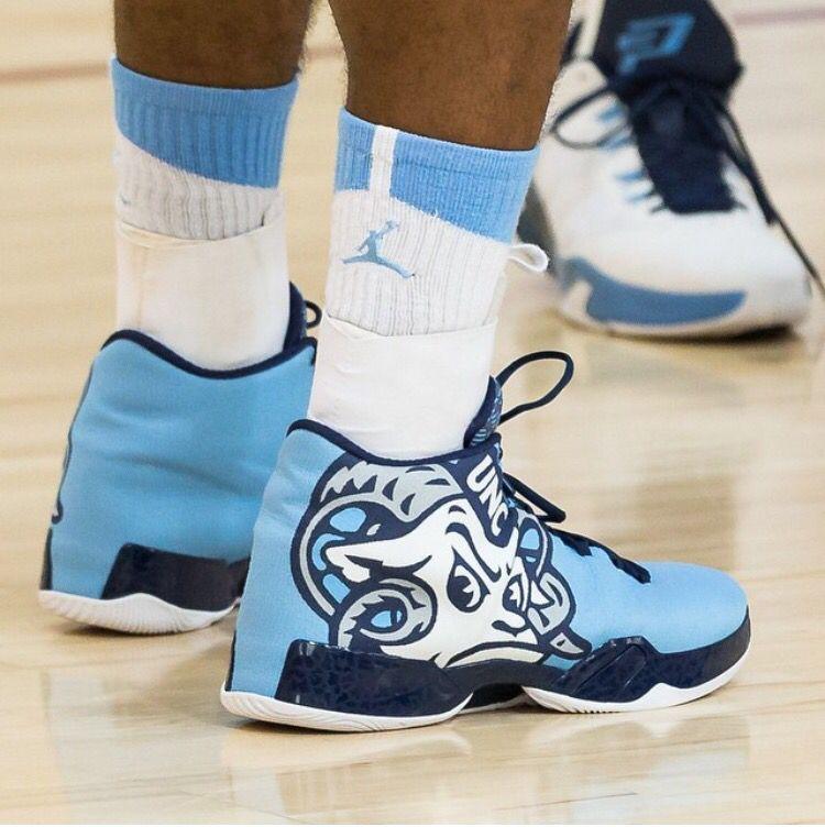 Tar Heel Nike Jumpman shoes. 2015 NCAA tournament. (With ... North Carolina Football Shoes