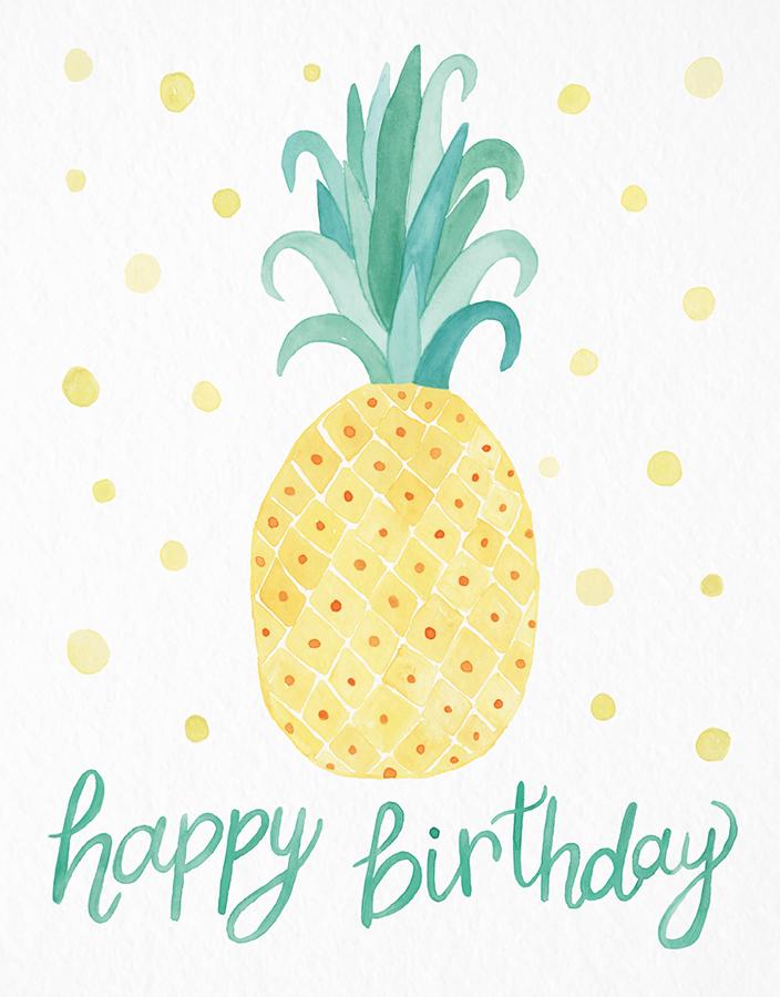 Pineapple | Happy birthday gifts, Free happy birthday ...