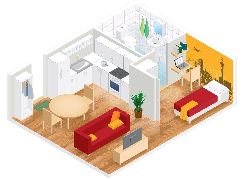 Isometric room plan isometric art pinterest room for 3d room paint planner
