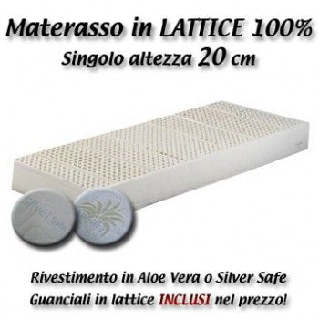 Materasso Singolo - Lattice 100% - altezza 20 cm | Lattice 100 ...