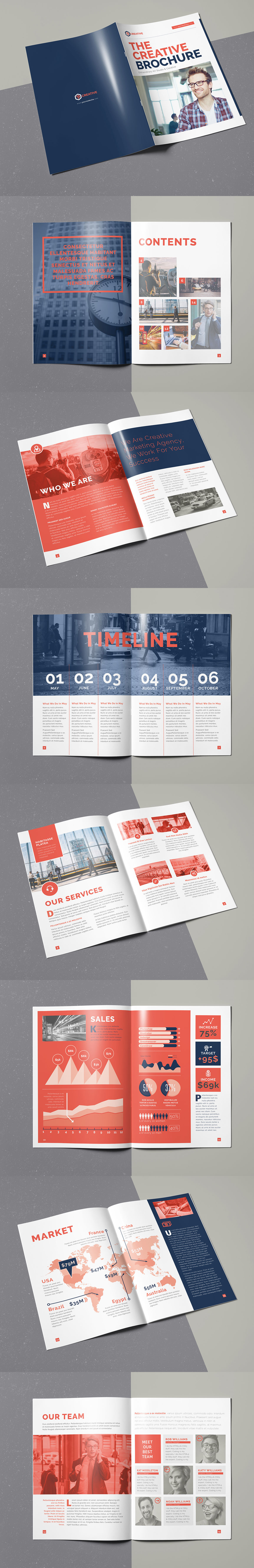 The Creative Brochure Template InDesign INDD - 16 Pages | drinks ...