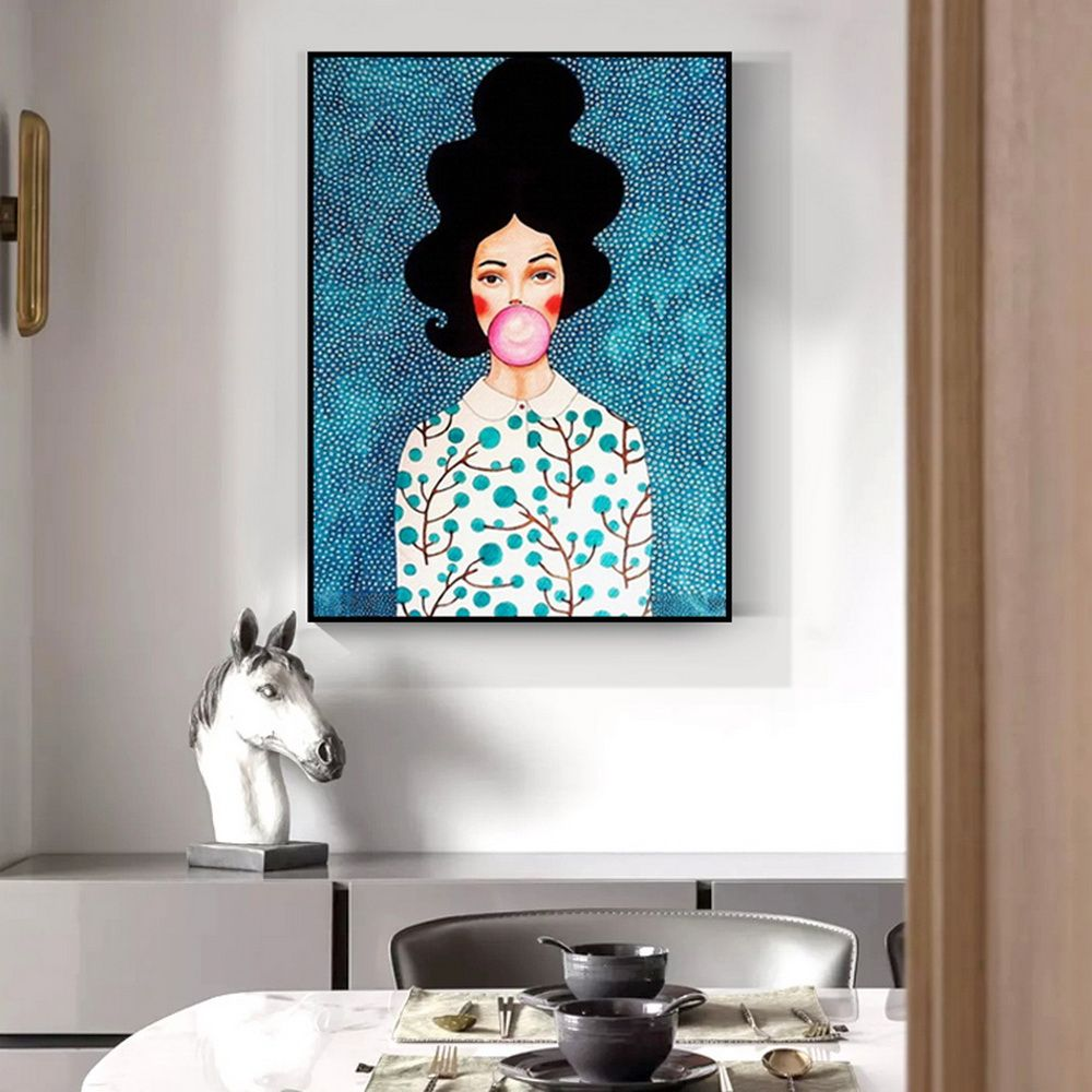 Cool Cartoon Portrait Canvas Print Wall Art Poster Airbnb Home Decor Sofa Cafe Office Hotel Bedro Painting House Warming Gifts Home Decor Paintings