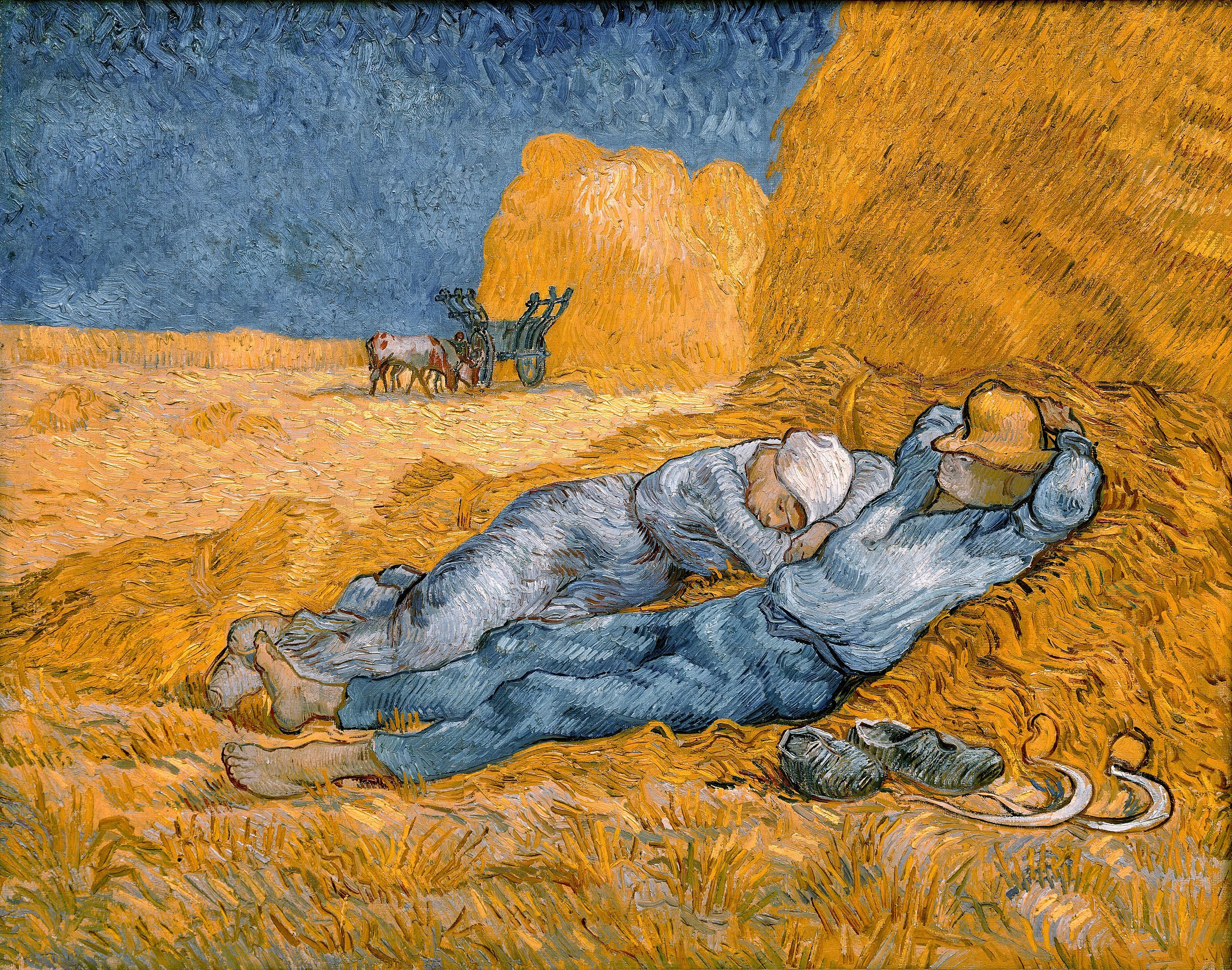 Noon, rest from work - Van Gogh - Copies