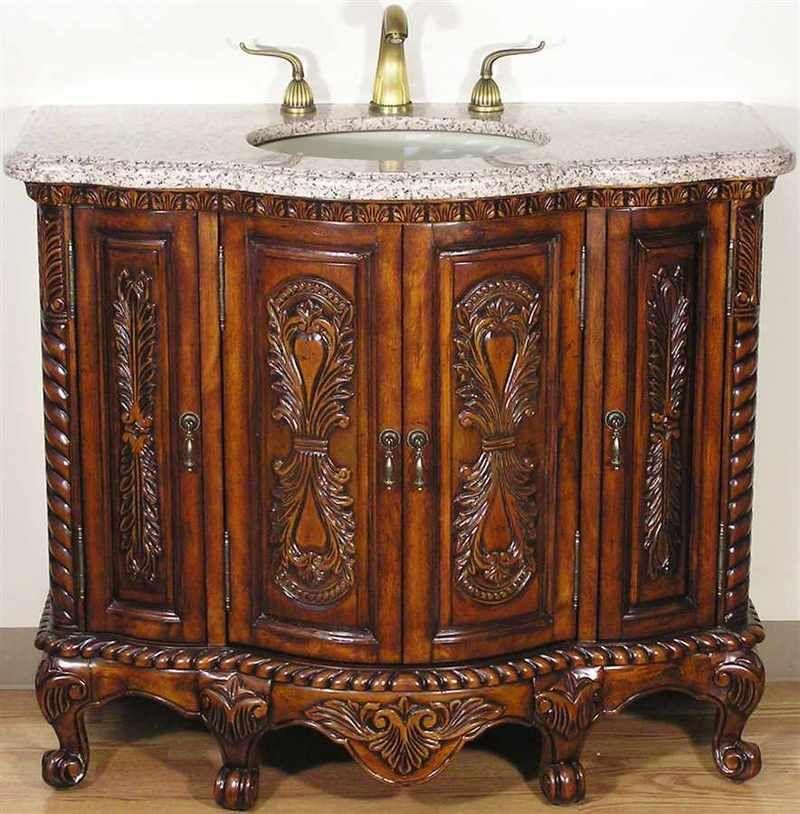 Solid Wood Tuscan Style Bathroom Vanity In Walnut Finish Tuscan Bathroom Tuscan Style Tuscan Decorating