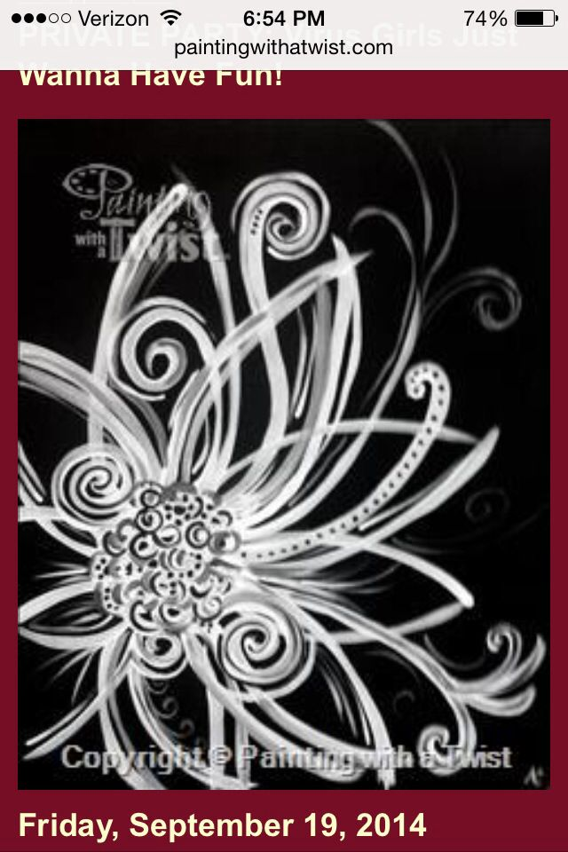 Black and White Flower: Painting with a Twist