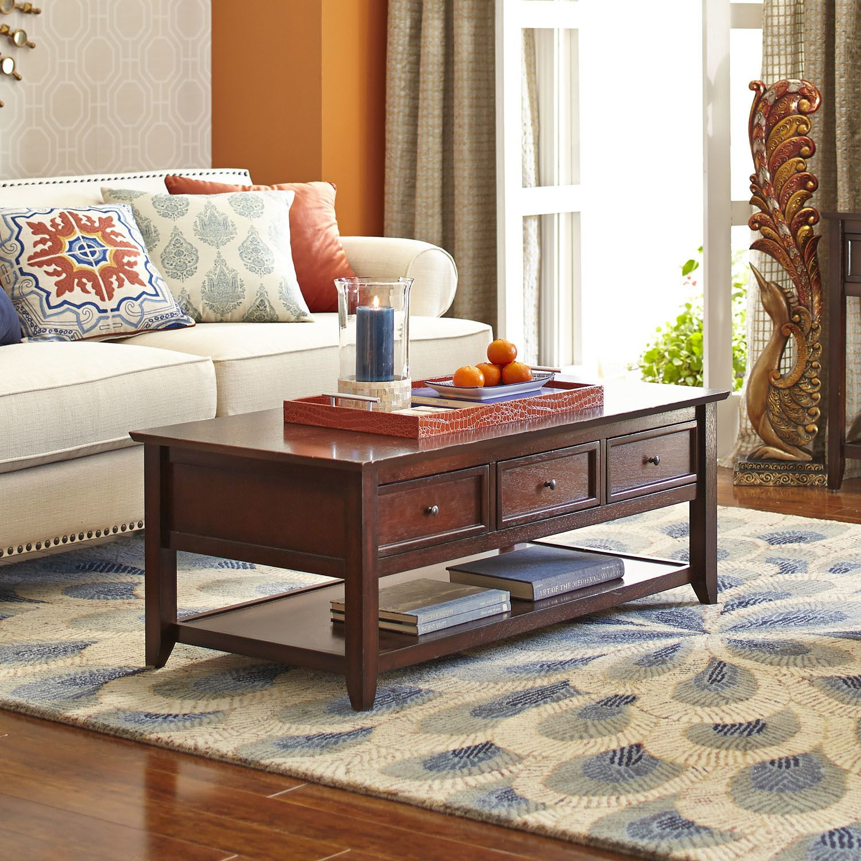 Ashington coffee table mahogany brown coffee table